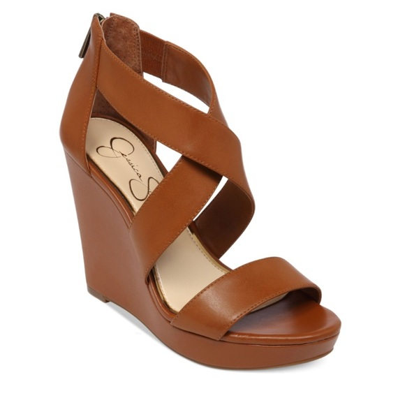 f91946335466 Jessica Simpson Shoes - Jessica Simpson Brown Wedges